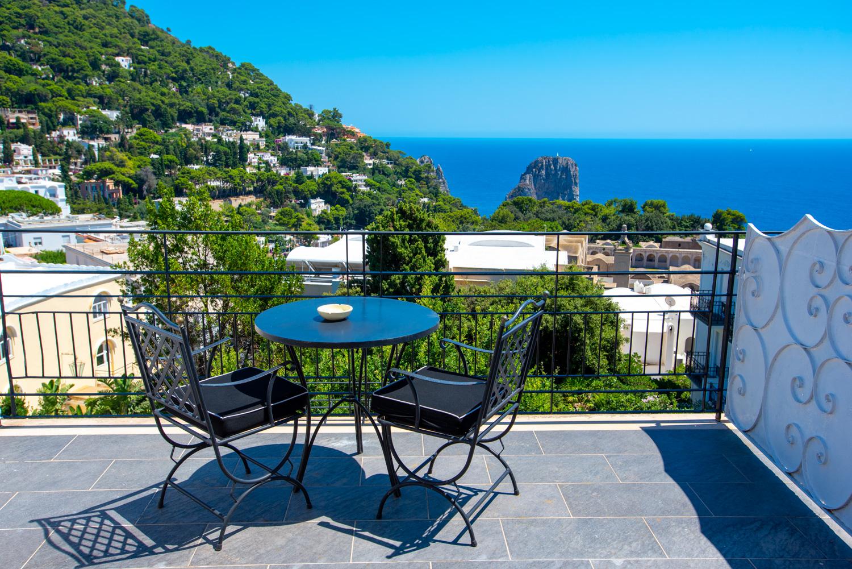 Luxury view over the island of Capri, Italy.