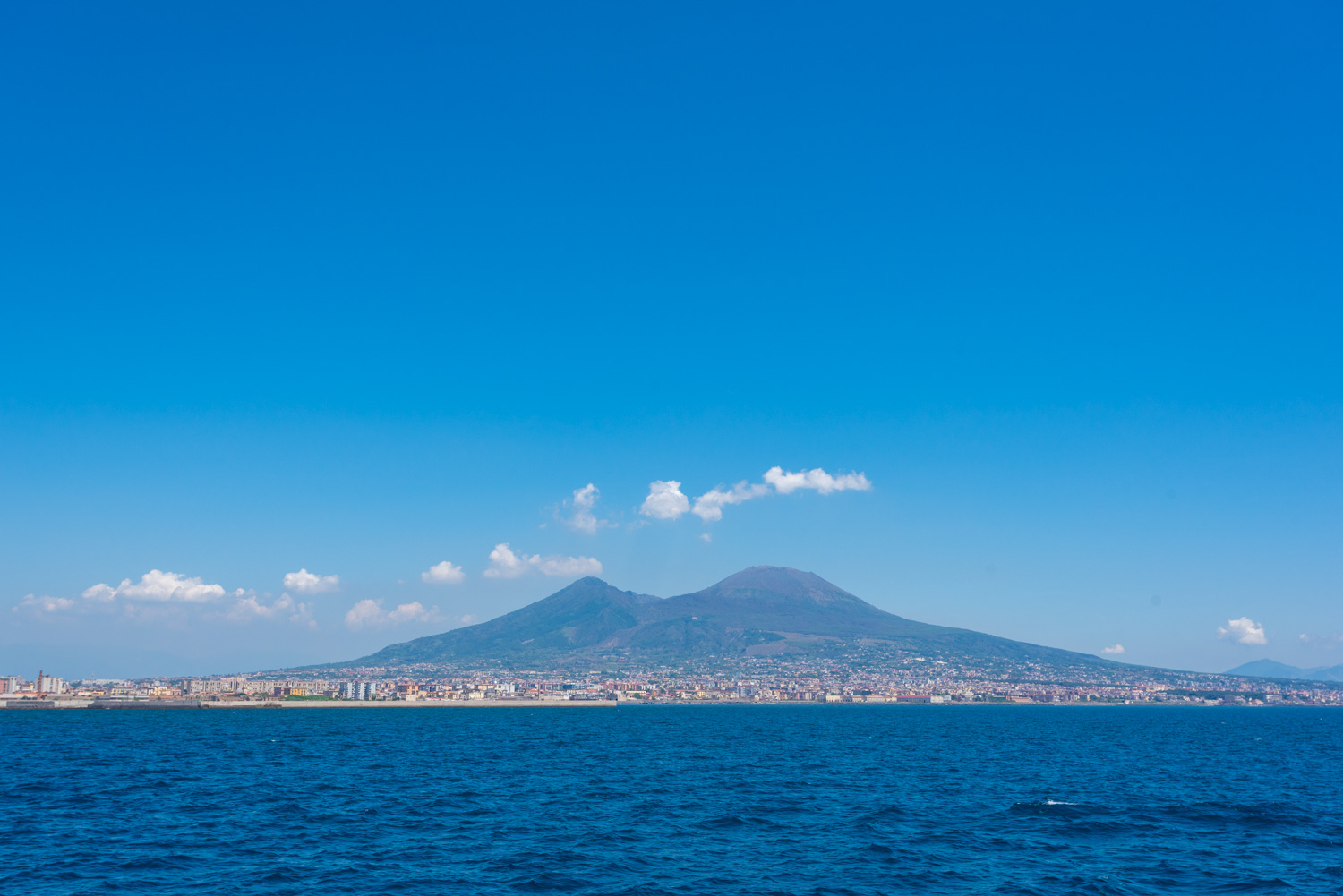 View of Vesuvius from the ferry to Capri.